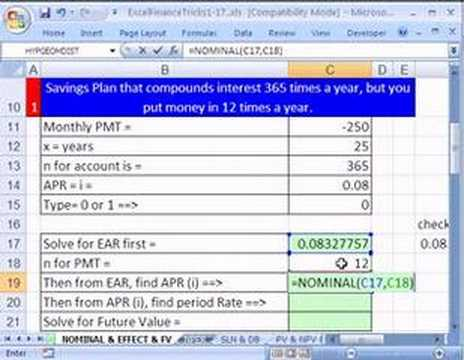 Video Excel Finance Trick 9: Daily Interest But Monthly Deposits?!