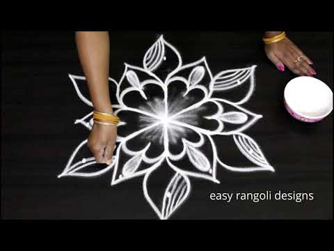 Very Easy Rangoli design by Aarti shirsat Top || Rangolis