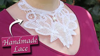 Making A Needle Lace Collar ||  Worth Gown Project