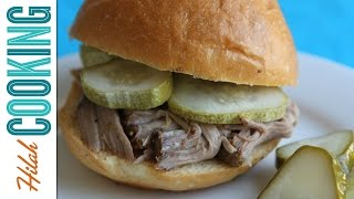 How to Make Slow Cooker Pulled Pork | Hilah Cooking