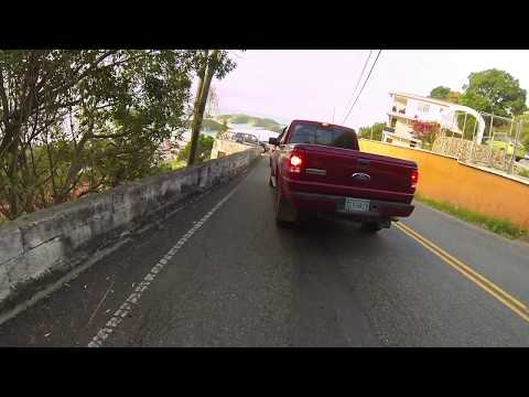 GoPro HD: St. Thomas USVI Driving with GoPro Suction Mount on Jeep Hood