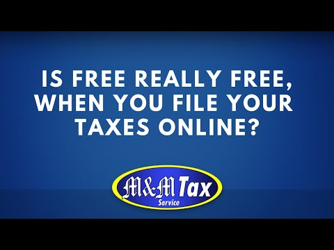 Is FREE really FREE, when you file your taxes online?