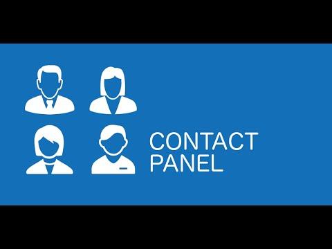 Video of Contact Panel Widget