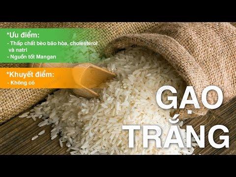 Giá trị dinh dưỡng của gạo trắng, thực phẩm cung cấp nhiều tinh bột