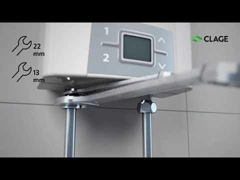 CEX – Installation und Montage des E-Kompaktdurchlauferhitzers mit Armatur SSO am Ausgussbecken