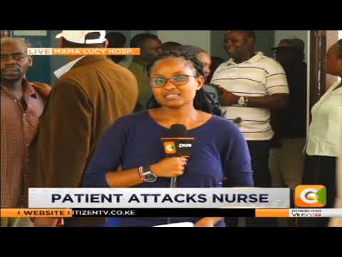 Nurse attacked as she attended to a patient
