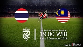 Live Streaming iNews TV Piala AFF 2018, Thailand vs Malaysia, Rabu Pukul 19.00 WIB
