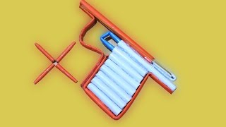 How To Make A Paper Gun That Shoots Paper Bullets With Trigger  Paper Weapon
