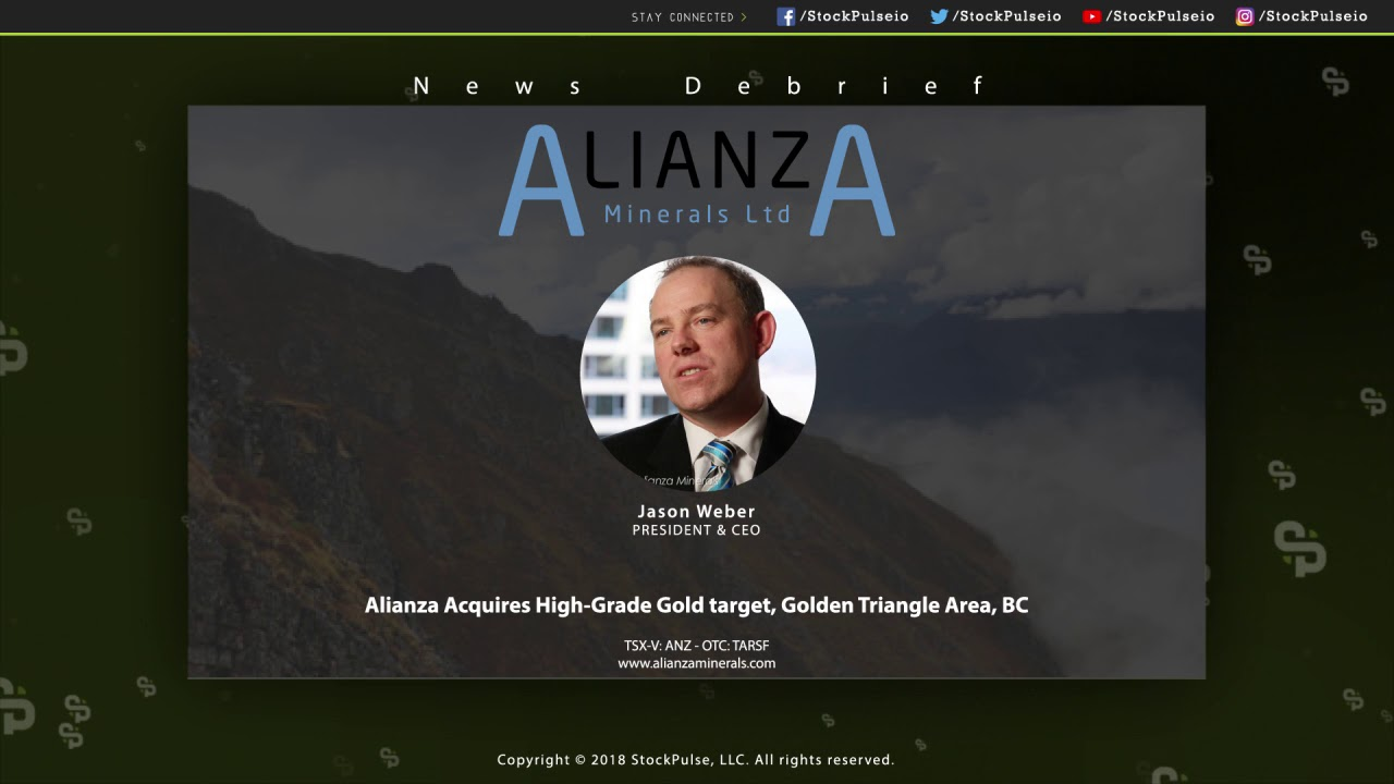 Alianza Acquires High-Grade Gold target, Golden Triangle Area, BC