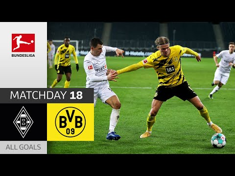 Haaland Brace in 6 Goal Thriller | Borussia M'gladbach – Borussia Dortmund | 4-2 | All Goals | MD 18