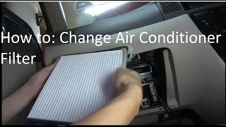 How to: Change your car's air-conditioner filter (Easy!)