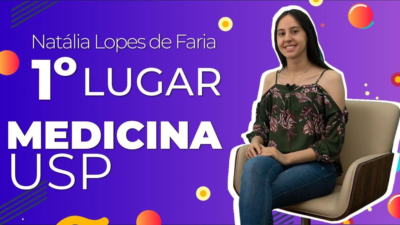Entrevista com Natália Lopes de Faria, primeiro lugar em Medicina na USP