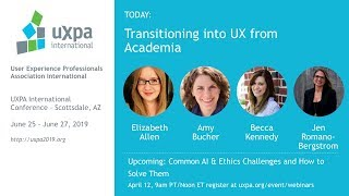 Transitioning into UX from Academia