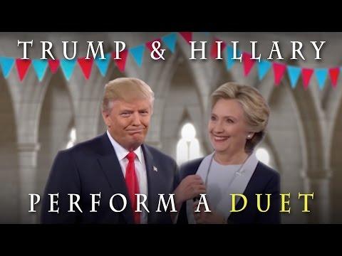 Trump & Hillary Perform a Duet!