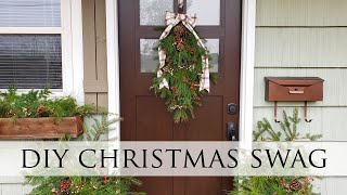 DIY Christmas Swag & Planters ~ Affordable, Foraged, & Fun