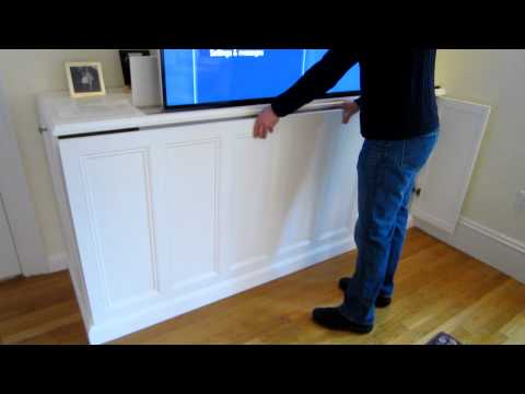 download tv lift cabinet removal of front cover. Black Bedroom Furniture Sets. Home Design Ideas