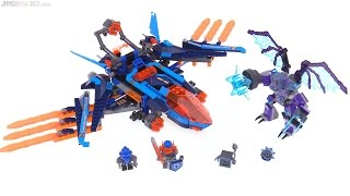 LEGO NEXO Knights Clay's Falcon Fighter Blaster review! 70351
