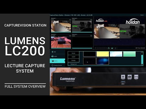 Lumens LC200 Lecture Capture System | HD Switcher, Recorder, & Live Streaming Media Processor Review