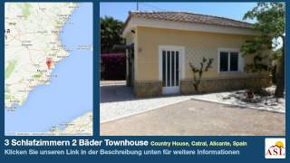 preview picture of video '3 Schlafzimmern 2 Bäder Townhouse zu verkaufen in Country House, Catral, Alicante, Spain'