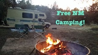 More NM Free Camping: Big Surprise, Gold Panning, and RV Cooking.