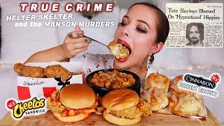 KFC MUKBANG (NEW Cheetos Sandwich & Cinnabon Biscuits!)