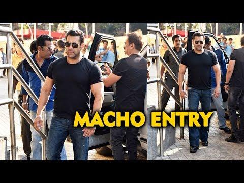 Salman khan macho entry at notebook trailer launch   pranutan  zaheer