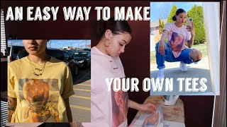 HOW I MADE MY OWN SHIRT (EASY VERSION) | DIY GRAPHIC TEE