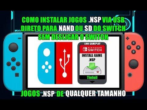 Como Instalar Jogos NSP pelo Cabo USB pelo Tinfoil Sem Desligar o