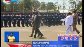 Rais Uhuru Kenyatta awaonya kikosi cha jeshi la RTS Moi Barracks kuidhinisha nidhamu afisini