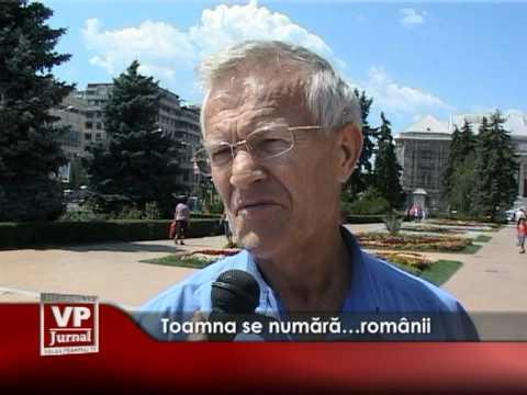 Toamna se numără…românii