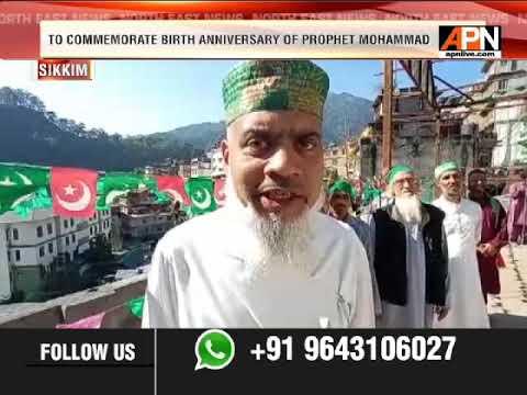 SIKKIM BERELVI JAMA MASJID ORGANISED RALLY ON EID-E-MILAD