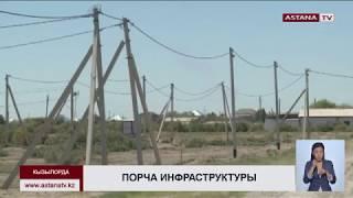 В Кызылорде в новом микрорайоне «Байтерек» украли  электропровода и люки на 40 млн. тенге