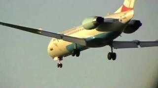preview picture of video 'Verschiedene Anflüge auf Wien-Schwechat (LOWW)'