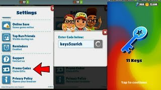subway surfers promo codes