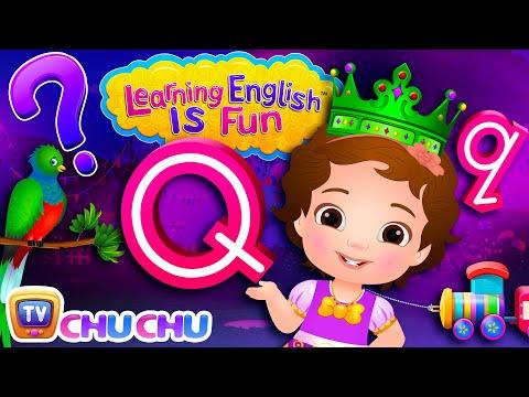 chuchu tv learning english is fun  alphabet q song phonics a