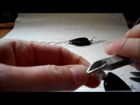 tutorial creare collane con catena e pietre/how to connect semiprecious stones and chain