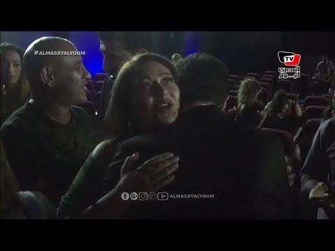 ليلى علوي تستقبل أحمد الفيشاوي بالأحضان بعد انتهاء «عيار ناري».. وزوجته تخطف الأنظار
