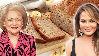 Which Celebrity Makes The Best Banana Bread? • Celebrity Recipe Royale