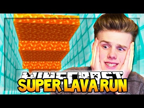 IMPOSSIBLE LAVA RUN (ESCAPE FROM LAVA!) | Minecraft Super Lava Run