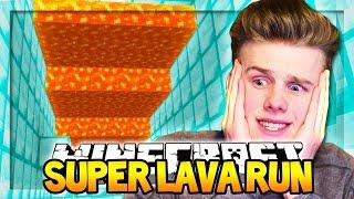 IMPOSSIBLE LAVA RUN (ESCAPE FROM LAVA!)   Minecraft Super Lava Run