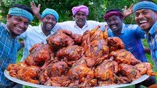 FULL CHICKEN ROAST | Whole Fried Chicken Recipe Cooking in village | Free Range Chicken Recipe