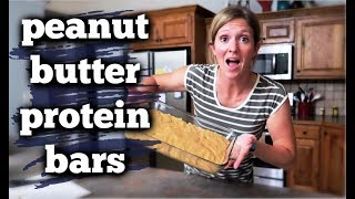 Homemade Protein Peanut Butter Bars