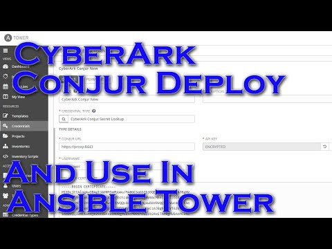 Deploying And Using CyberArk Conjur With Ansible Tower