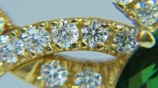 Avisdiamond: Tsavorite Diamond Brooch