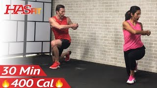 30 Minute Tabata Cardio Workout without Equipment at Home - Full Body HIIT No Equipment Cardio by HASfit