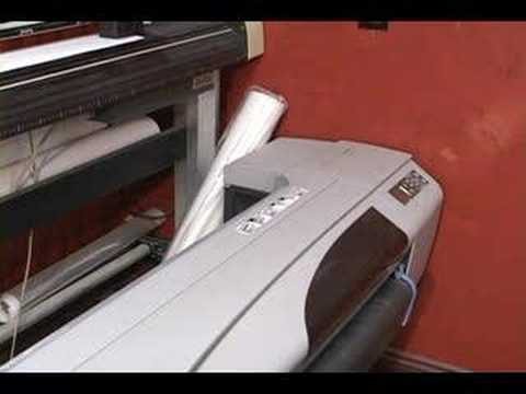 How to operate the HP DesignJet 500
