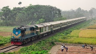 Furious Sagardari Express Express powered by BR ALCO 6501 WDM 3A Locomotive of Bangladesh Railway