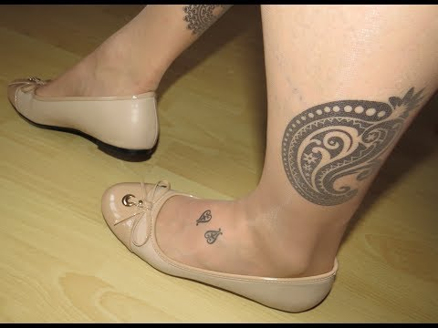 Andreas Machado soft beige leather ballerinas and nylons