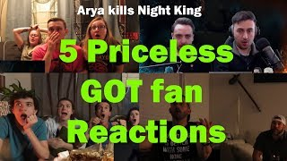 Priceless Game Of Thrones Fan Reactions : Arya kills Night King