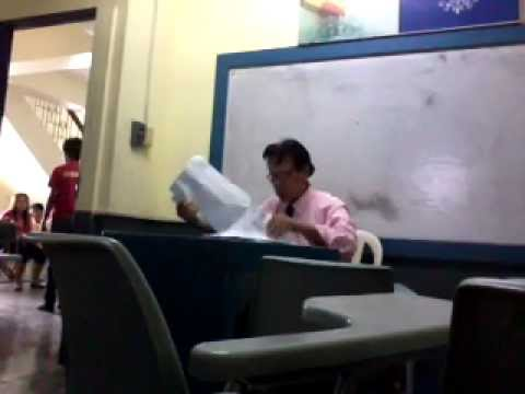 Armchair Sleeves Kidkraft Farmhouse Table And Chair Set Montessori Professional College Terror Prof Caught On Video – The Filipino Scribe